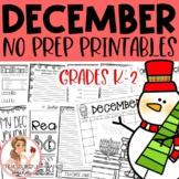1 December Winter Holiday NO PREP Activities Packet K-2nd Grades
