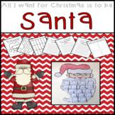 Christmas Activities First Grade: Santa Craft and Writing