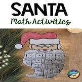 December Activities for first grade: Santa Addition