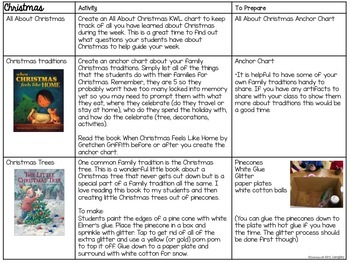 December Activities and Lesson Plans
