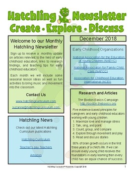 December Activities and Newsletter