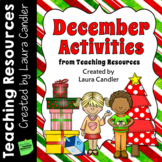 December Learning Fun! Lessons, Activities, and Printables (Upper Elementary)