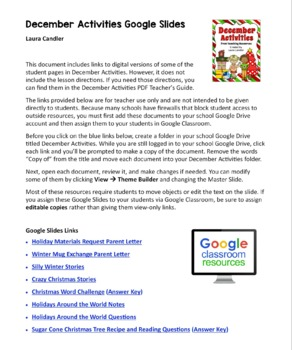 December Activities and Printables for Christmas, Hanukkah, and Winter