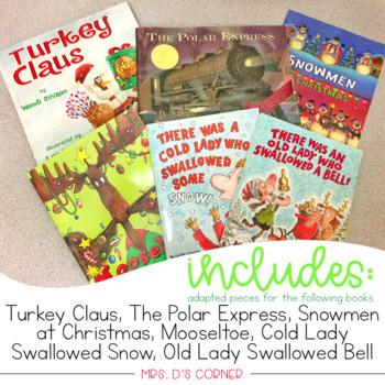 #spedstockingstuffer December Adapted Piece Book Sets [ 6 book sets included! ]