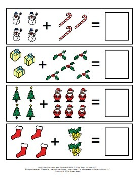 December Addition File Folder Games