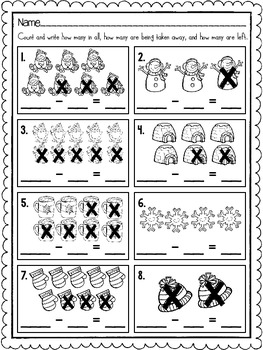 December Addition and Subtraction Practice Pages {No Prep} {CCSS Aligned}