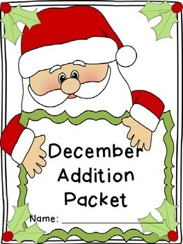December Addition and Subtraction Worksheets Packets - Math Facts Worksheets