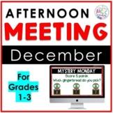 December Afternoon Meeting