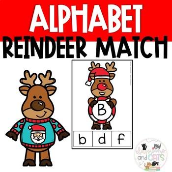 December Alphabet Letter Matching Clip Cards Game