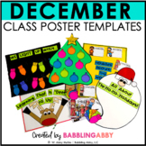 December Anchor Charts and Class Posters