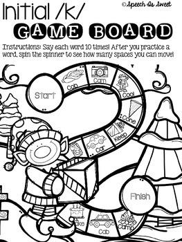 December Articulation Game Boards