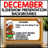 December Background Templates use with Google Slides or PPT