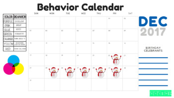 December Behavior Chart