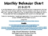 December Clip Chart Behavior Calendar