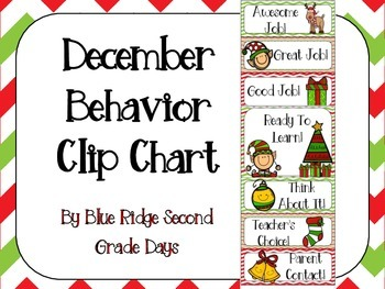 December Behavior Clip Chart