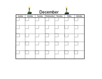 December Blank Calendar