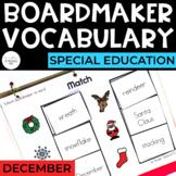 December Vocabulary Unit- Boardmaker
