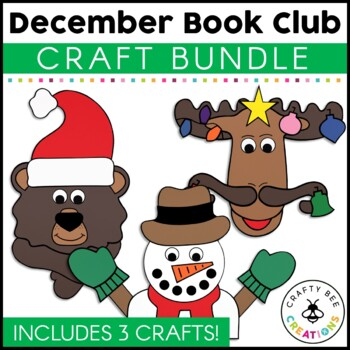 December Book Club {Christmas Moose, Holiday Bear, & Snowman at Night}