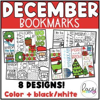December Bookmarks- to color!