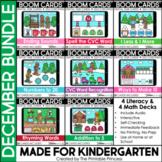 December Boom Cards™ for Kindergarten Gingerbread Theme |
