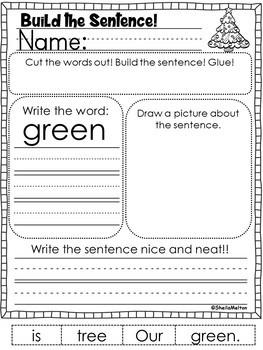 December Build the Sentence