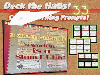 December Bulletin Boards-33 Creative Writing Prompts to Deck the Halls