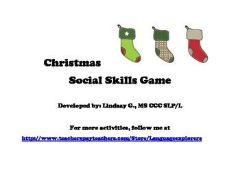 December Bundle: Christmas Social Skills Game and Christmas Memory Activity