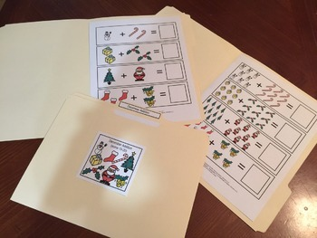 December Bundle (Visual Worksheets and File Folder Games)