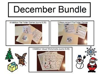 December Bundle (Visual Worksheets and File Folder Games)
