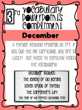 December Bundle! Vocabulary PowerPoints match Rooted in Reading 3rd Grade Books