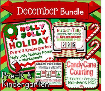 December Bundle for Pre-K and Kindergarten