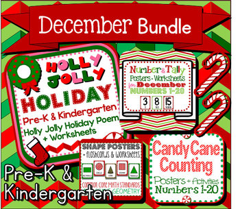 December Bundle for Pre-K and Kindergarten