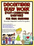 December Busy Work Pack for First Graders {Non-Christmas Themed}