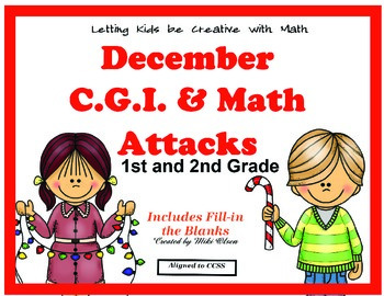 C.G.I & Math Attacks Common Core Math Winter Holiday Combo Pack!