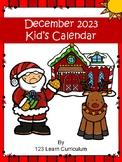 December 2018 Kids Calendar