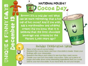 December Calendar Activities