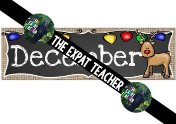 December Calendar: Burlap and Chalkboard
