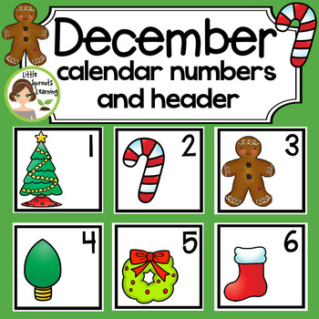 December Calendar Cards (6 sets) includes 2 Headers and 41 special day cards