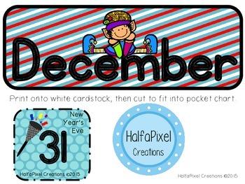 December Calendar Cards ABCDE Pattern {Christmas Elf Gift Tree}