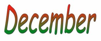 December Calendar Cards - Christmas Theme