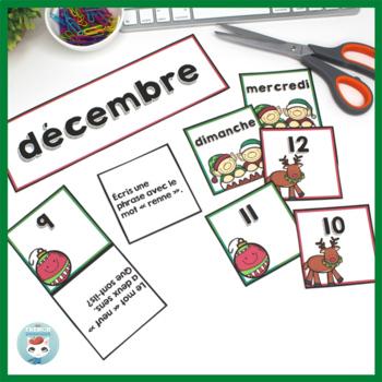 French December Calendar Cards   Décembre