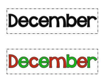 December Patterned Calendar Cards- Melonheadz Style