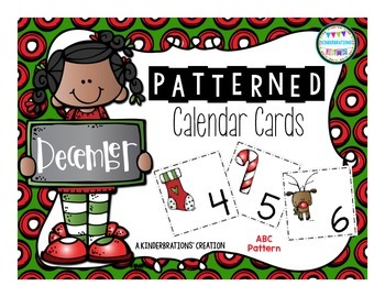 December Patterned Calendar Cards- Melonheadz Style