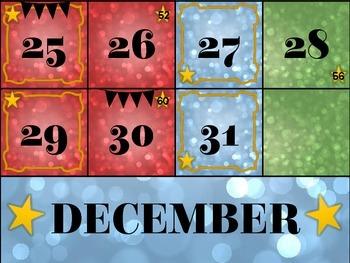December Calendar Cards (Set 1)