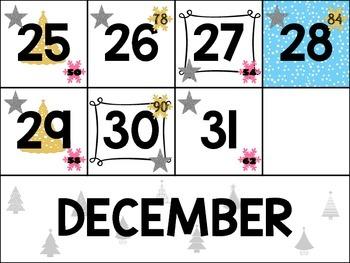 December Calendar Cards (Set 3)