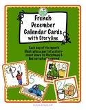 December Calendar Cards for FRENCH class
