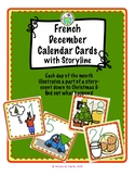 December Calendar Cards for FRENCH class