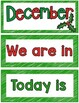 December Calendar Cards and numbers