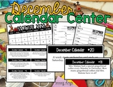 December Calendar Center Task Cards