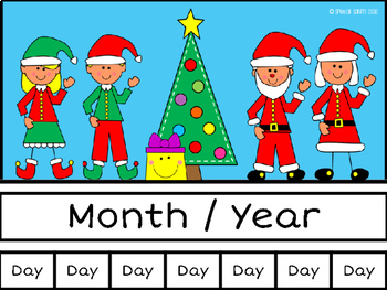 December Calendar Concepts: Following Directions & Answering Wh-Questions